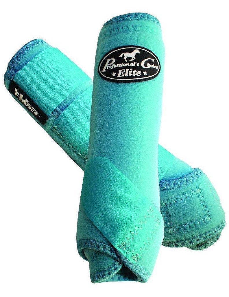 Professionals Choice Equine Sports Medicine Ventech Elite Leg Boot Value Pack, Set of 4 (Medium, Turquoise)