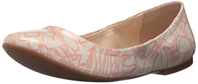 Nine West Women's Girlsnite Synthetic Ballet Flat, Off White/Pink, ...