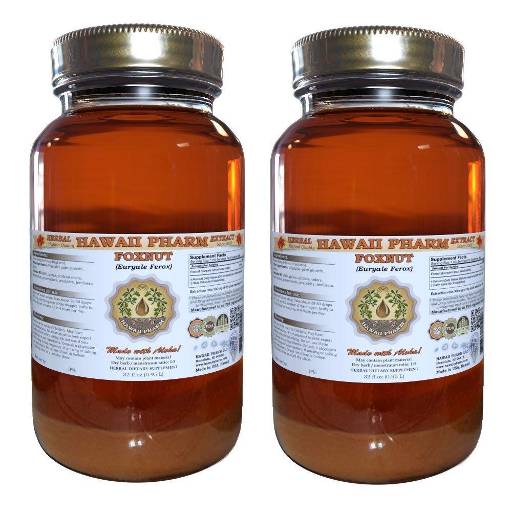 Foxnut (Euryale Ferox) Tincture, Organic Seeds Liquid Extract, Qian Shi, Herbal Supplement 2x32 oz Unfiltered