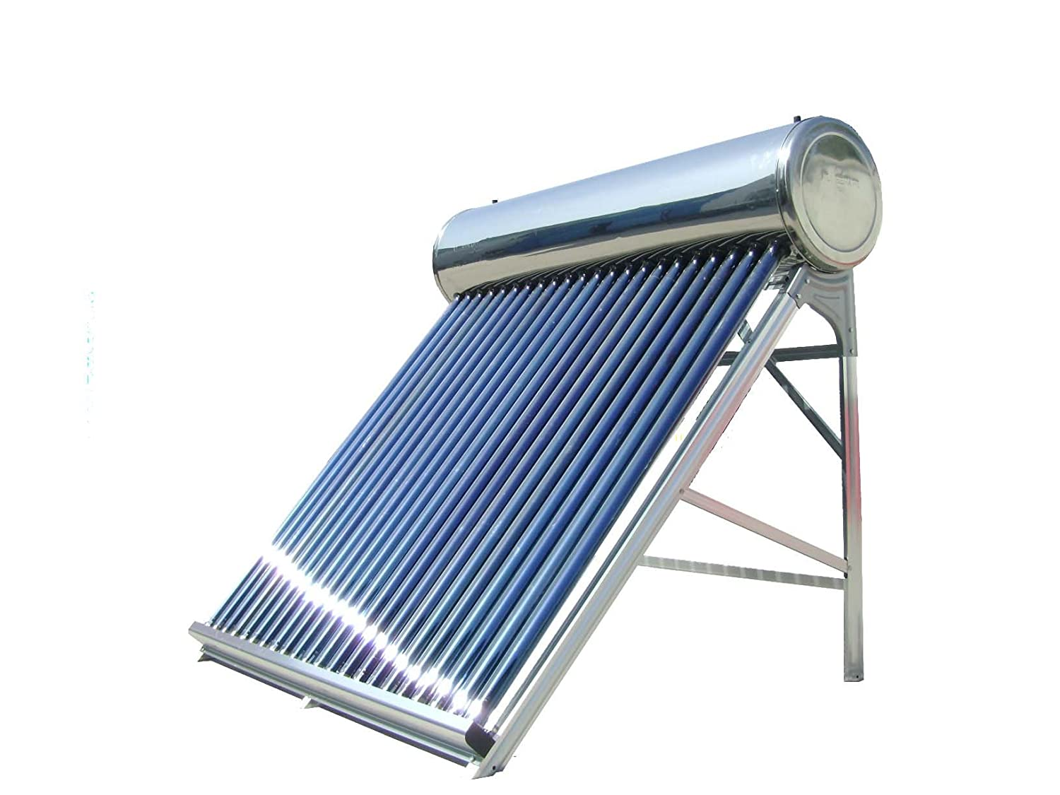 V-Guard 125-Watt Silicone Solar Water Heater (Silver & Blue): Amazon.in:  Garden & Outdoors