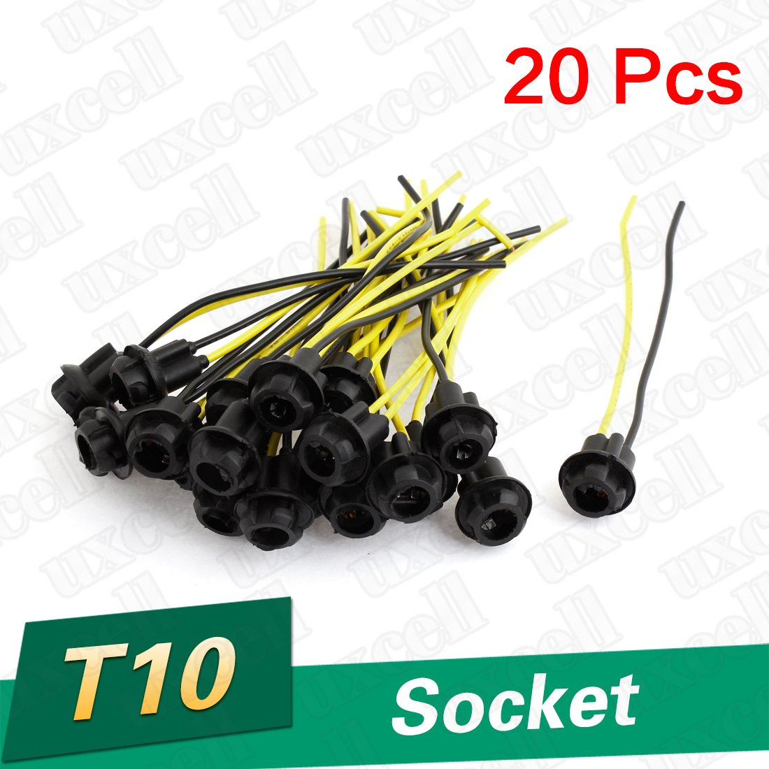 Amazon Uxcell 20PCS T10 Harness Connectors Wiring Sockets 168 194 2825 912 921 W5W DC 12V Home Improvement