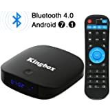 Kingbox K1Plus Android TV Box 2GB-8GB/Bluetooth 4.0/Android 7.1/3D/4K Full HD/2.4 Ghz Wifi/H.265 Smart Scatola TV