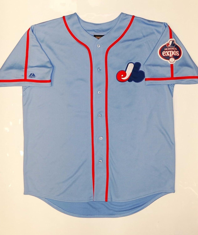 best service 9f654 caa15 Pedro Martinez Autographed Blue Montreal Expos Jersey- JSA W ...
