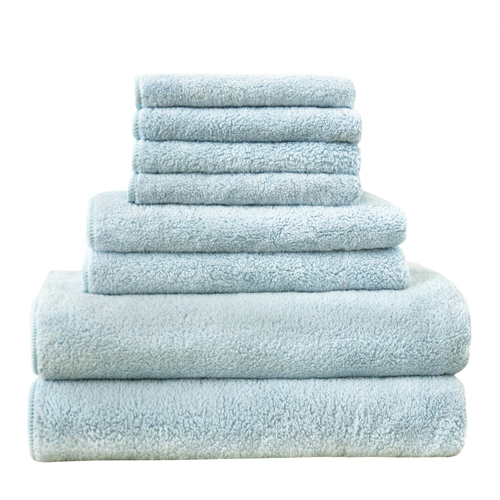Hohotel 8 Piece Towel Set, 2 Bath Towels, 2 Hand Towels and 4 Washcloths, Hotel Quality, Super Soft (Pink) Leermart