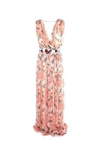 Elisabetta Franchi Abito Donna 46 Rosa Ab25981e2 Primavera Estate 2018   Amazon.it  Abbigliamento 39c8cdf1331