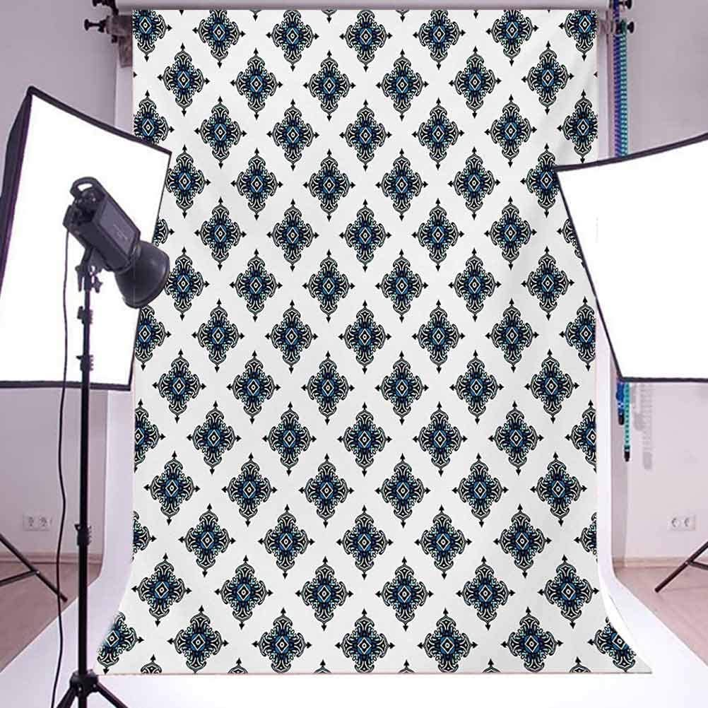 Damask Motifs with Royal Renaissance Style Baroque Details Classical Design Background for Photography Kids Adult Photo Booth Video Shoot Vinyl Studio Props Victorian 10x15 FT Photography Backdrop