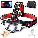 Cobiz [2021 Newest] LED Headlamp Flashlight 1000 Lumen Multifunctional-Rechargeable Work Light with Button&Motion Mode-Runnin