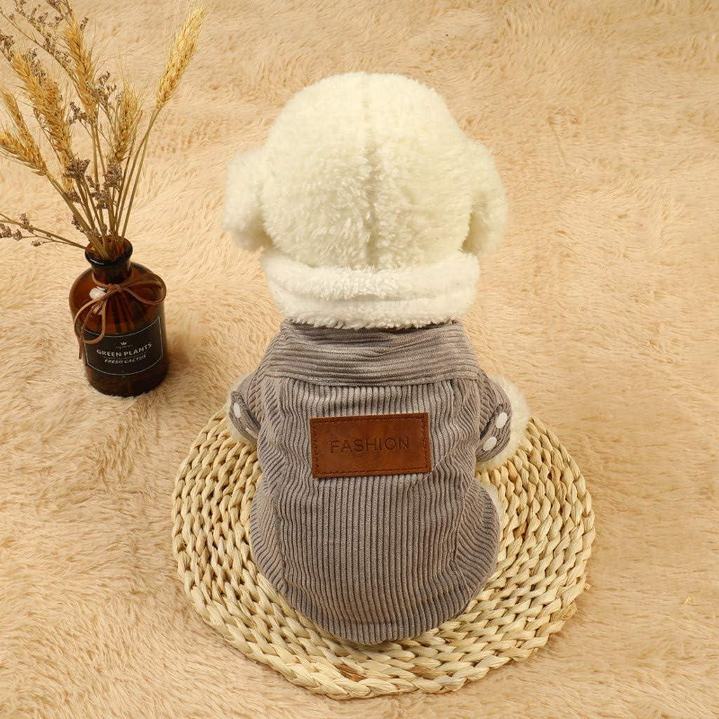 sunnymi Pet Dog Coat Violet, S Buste: 11.81 pour Petit Moyen Grand Chien Animaux Compagnie Chat Couleur Pure Velours C/ôtel/é Chaud Lettre Impression Hiver Sweat
