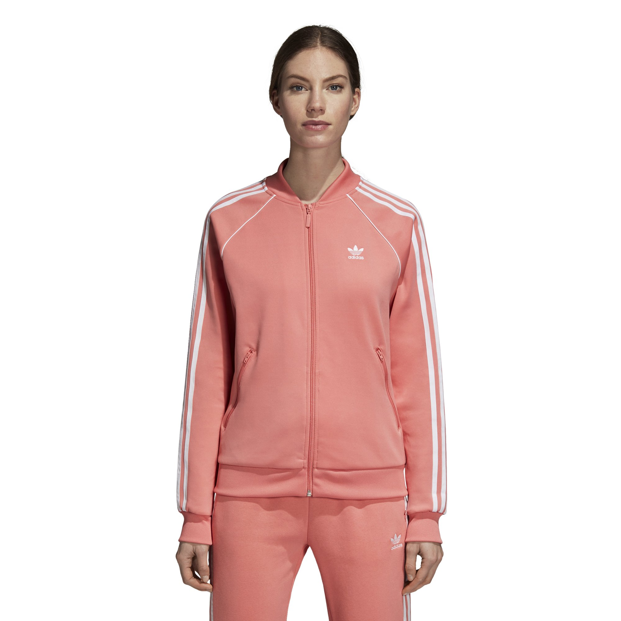 adidas Originals Women's Superstar Tracktop, Tactile Rose, L