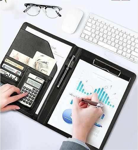 amazon com leather portfolio resume pad folio cover file folder