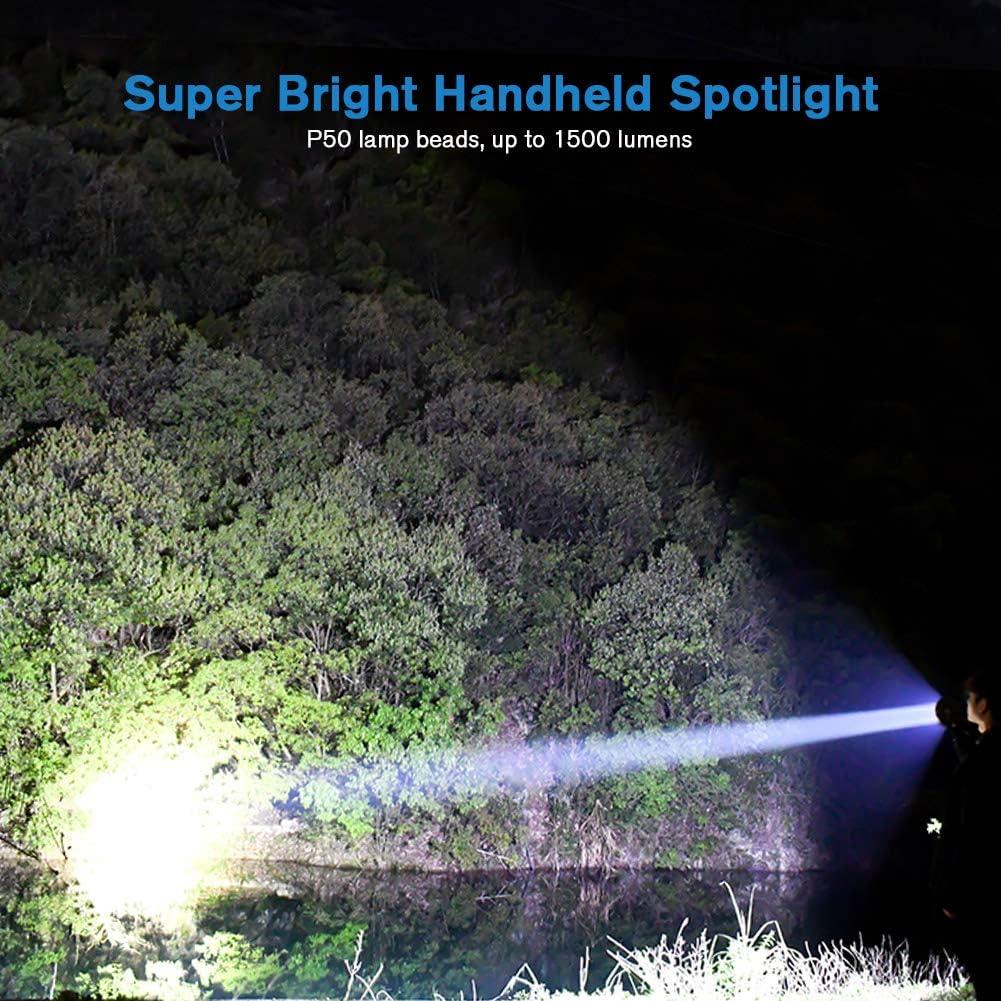 2500 LM Handlampe Multifunktionale Camping Laternen Super Helle Suchscheinwerfer USB Wiederaufladbare Taschenlampe mit 8 Modi f/ür Camping Angeln Wandern Coquimbo LED Handscheinwerfer Garage