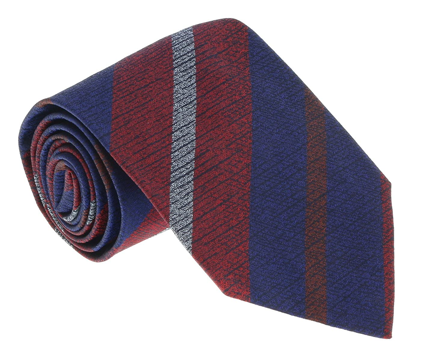 Missoni U5068 Red//Blue Awning 100/% Silk Tie for mens