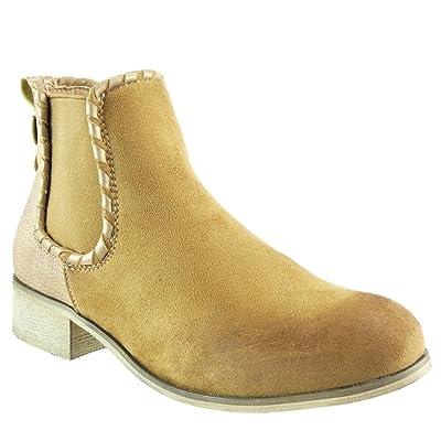 607e55cc69e91 Angkorly - Chaussure Mode Bottine cavalier bi-matière femme matelassé noeud  camouflage Talon bloc 3.5