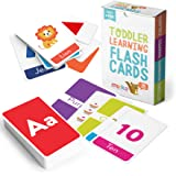 merka Large Alphabet Flash Cards for Toddlers 2-4 Years - Learn Colors Number Shapes Animals ABC Letters & Sight Words - Lear