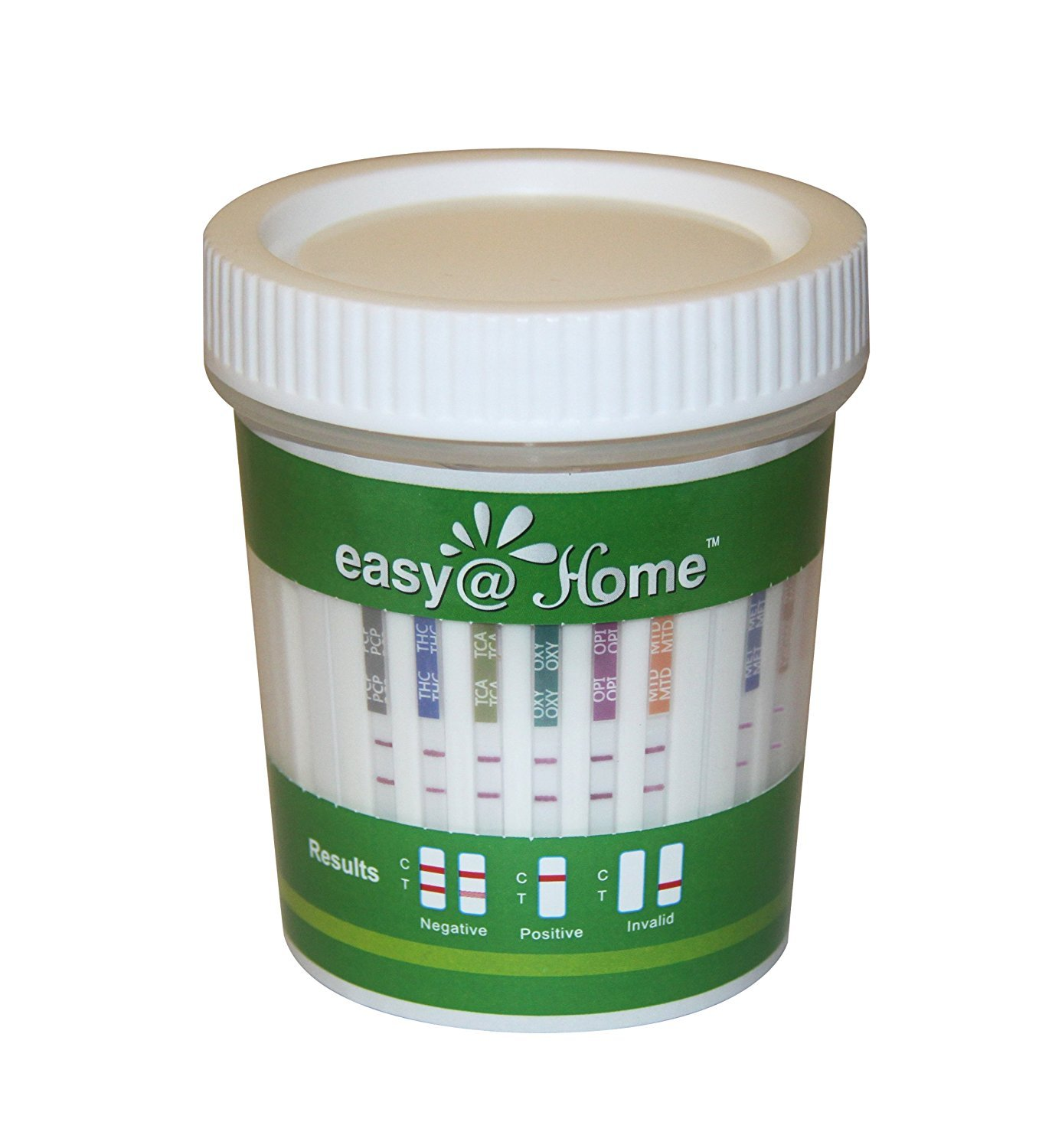 5 Pack Easy@Home 14 Panel Instant Drug Test Cup Kit With 3 Adulterations And Temperature Strips, Testing 14 Drugs BUP,THC,OPI 2000,AMP,BAR,BZO,COC,MET,MDMA,MTD,OXY,PCP,PPX,TCA-#ECDOA-1144A3 (5 Tests) by Easy@Home (Image #2)