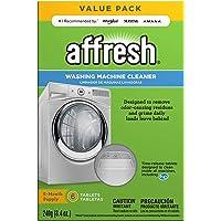 Limpiador Lavadora de Affresh W10501250 | Limpia arandelas de carga frontal y carga superior | 6 Tabletas