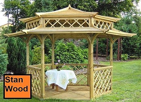 Stan-Wood Pergola tonnelle en bois avec toit en bois ...