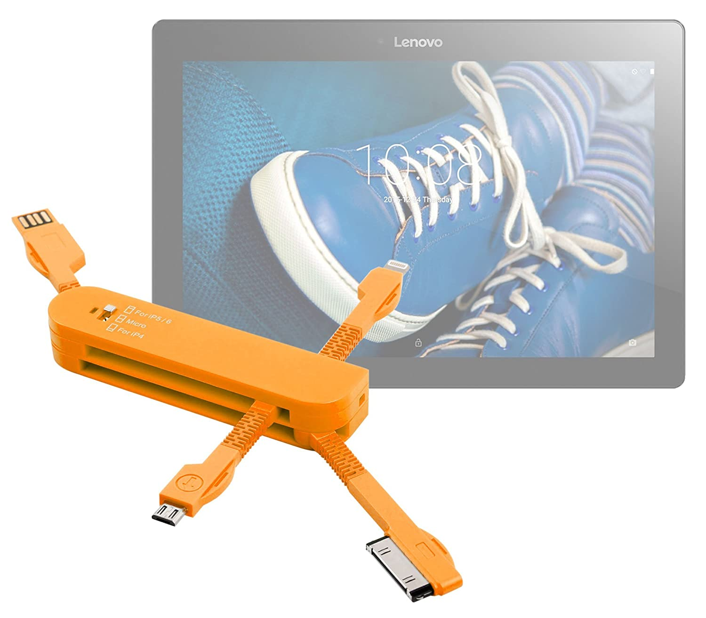 DURAGADGET Multi-Cargador Naranja para Tablet Lenovo Tab 2 ...