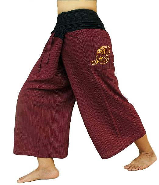 2 Tone Thai Fisherman Pants Yoga Trousers, a Waist up to 70
