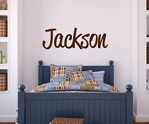 LucyLews Boys Name Wall Decal Bedroom Decor, Personalized Name Sticker