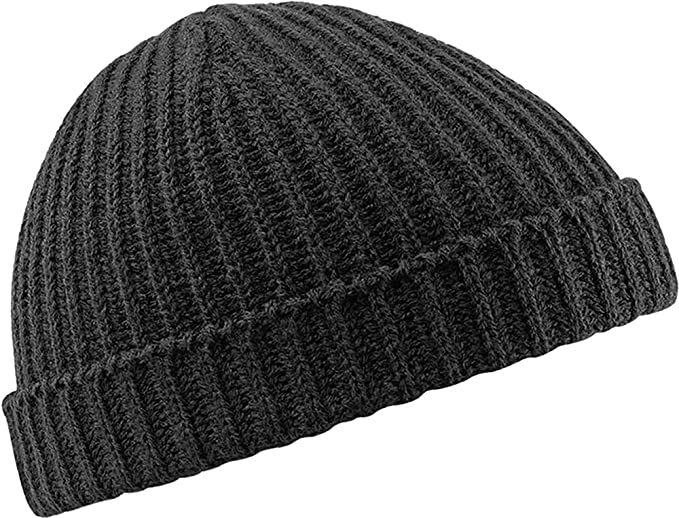 f8e3e929ca5 Amazon.com  Beechfield Trawler beanie Black  Clothing