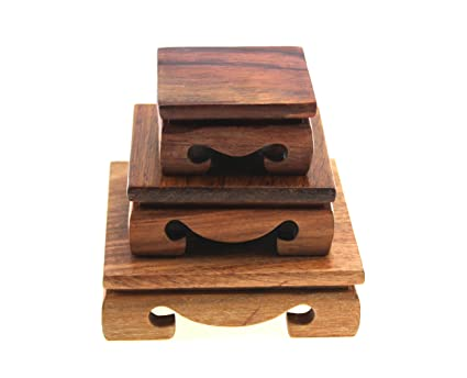 Amazon Oriental Furniture Display Stand Wooden Square Shape Delectable Small Wooden Display Stands