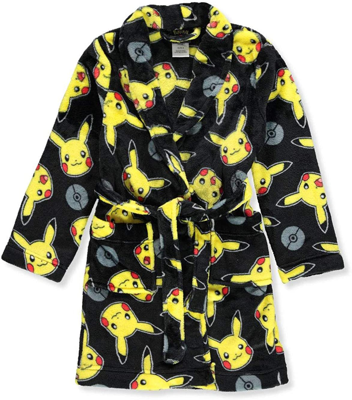 Poke Faces Black Pokemon Boys Little Robe