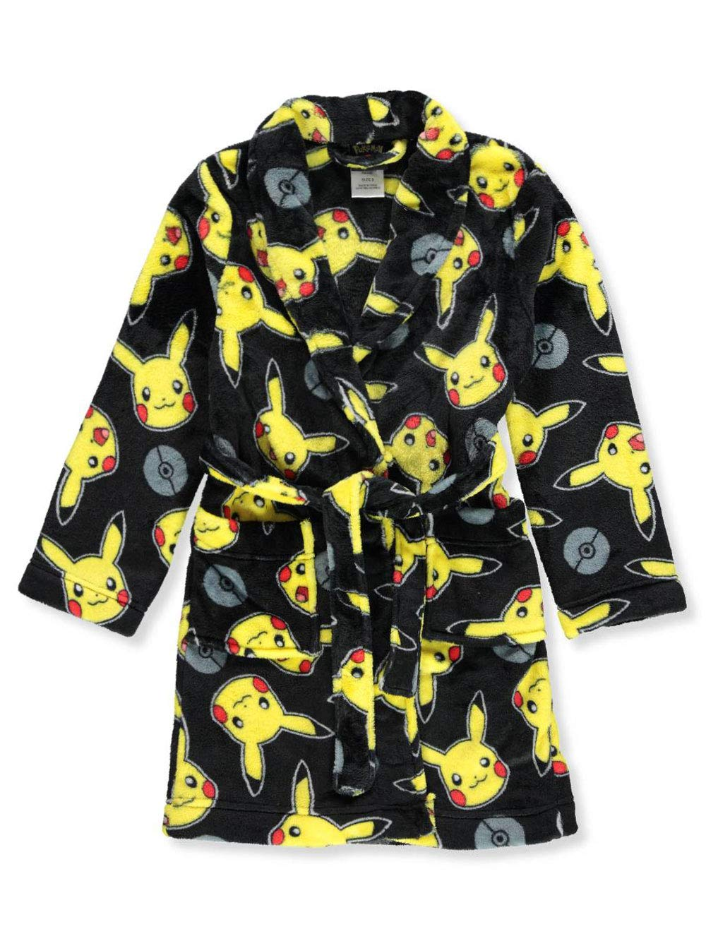 Pokemon Boys' Little Robe, Poke Faces Black (12)