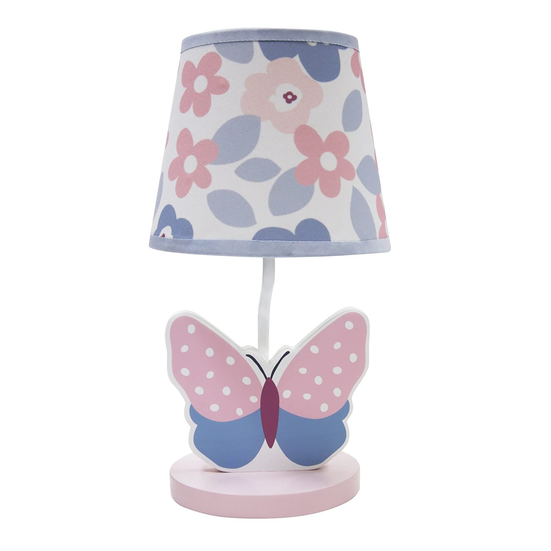 Butterfly Meadow Lamp Shade Bulb Kids Room Bedroom Nursery