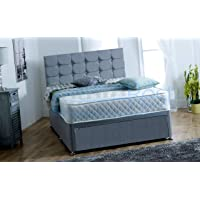 ComfoRest Paris Grey Fabric Divan Bed Set