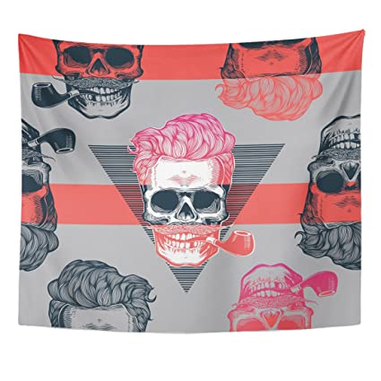 Amazon Emvency Tapestry Pop Skeleton Heads Wearing Cool