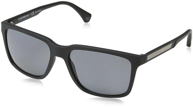 45ddf2cc466 Emporio Armani EA 4047 BLACK RUBBER GREY POLARIZED men Sunglasses ...