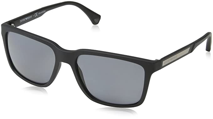 3435be67ca80 Emporio Armani Men's EA4047-506381-56 Black Square Sunglasses ...