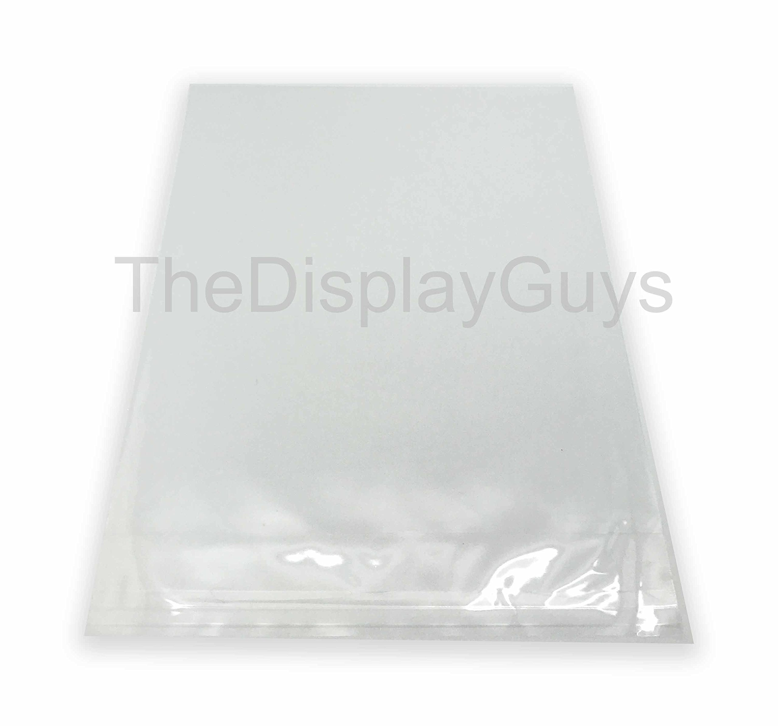The Display Guys, 100 Pcs 12 7/16'' x 18 1/4'' Clear Self Adhesive Plastic Bags for 12 x 18 inches Picture, Poster, Photo Framing Mats ...
