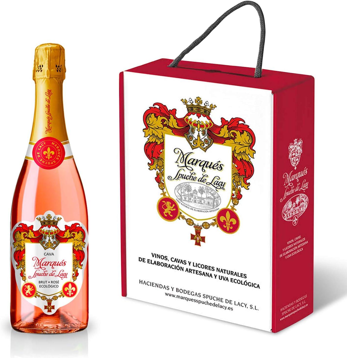 Cava Brut Rosé Ecológico de la prestigiosa bodega Marqués Spuche de Lacy (2 botellas): Amazon.es: Alimentación y bebidas