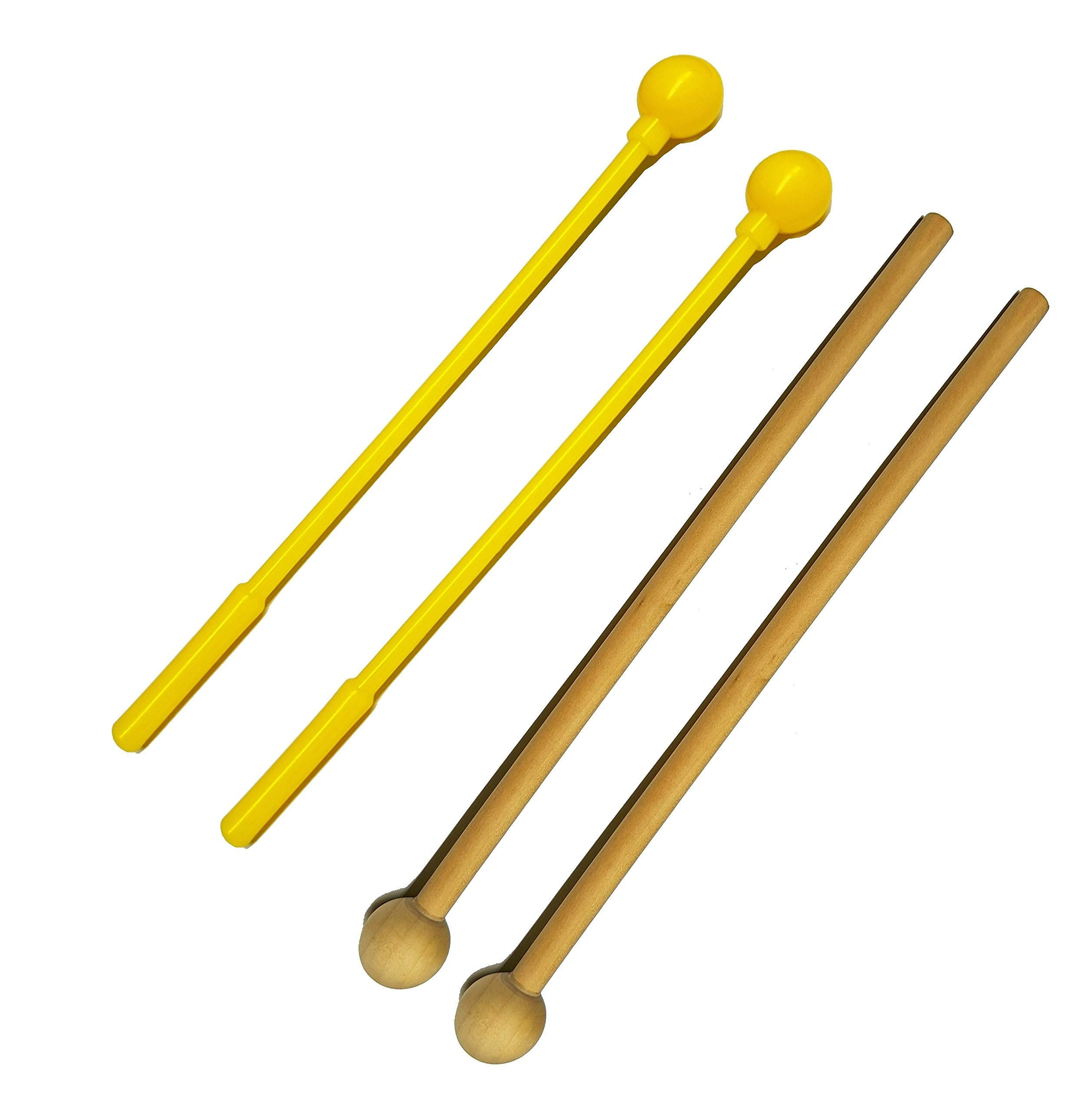 Xylophone for Kids: Glockenspiel Toy Best Birthday/Holiday Gift Idea - With(Four) Child-Safe Mallets 2 Wood 2 Plastic, 3 Music Card & Whistle Included by aGreat Shark (Image #5)