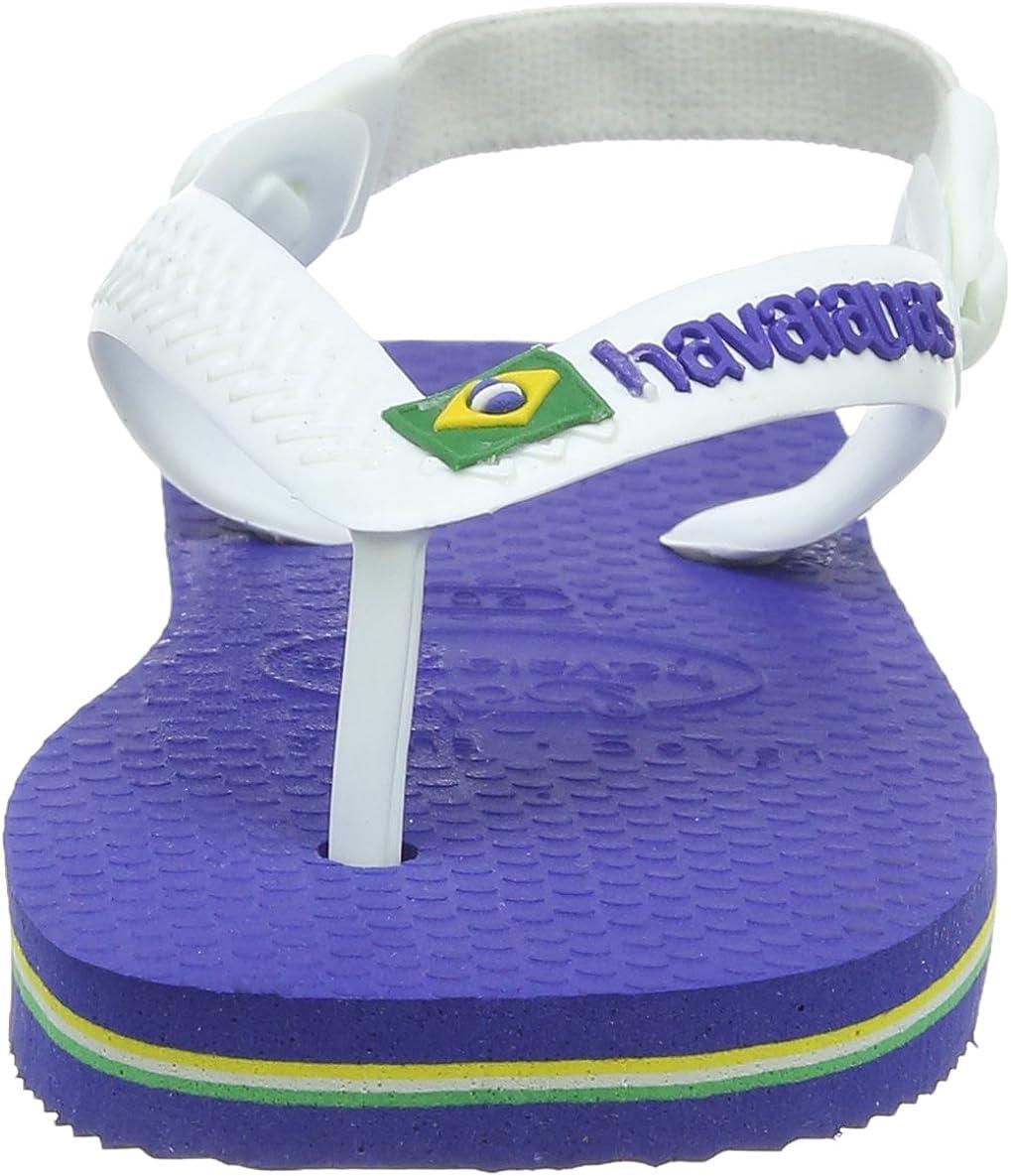 Tongs b/éb/é Fille Havaianas Baby Brasil Logo