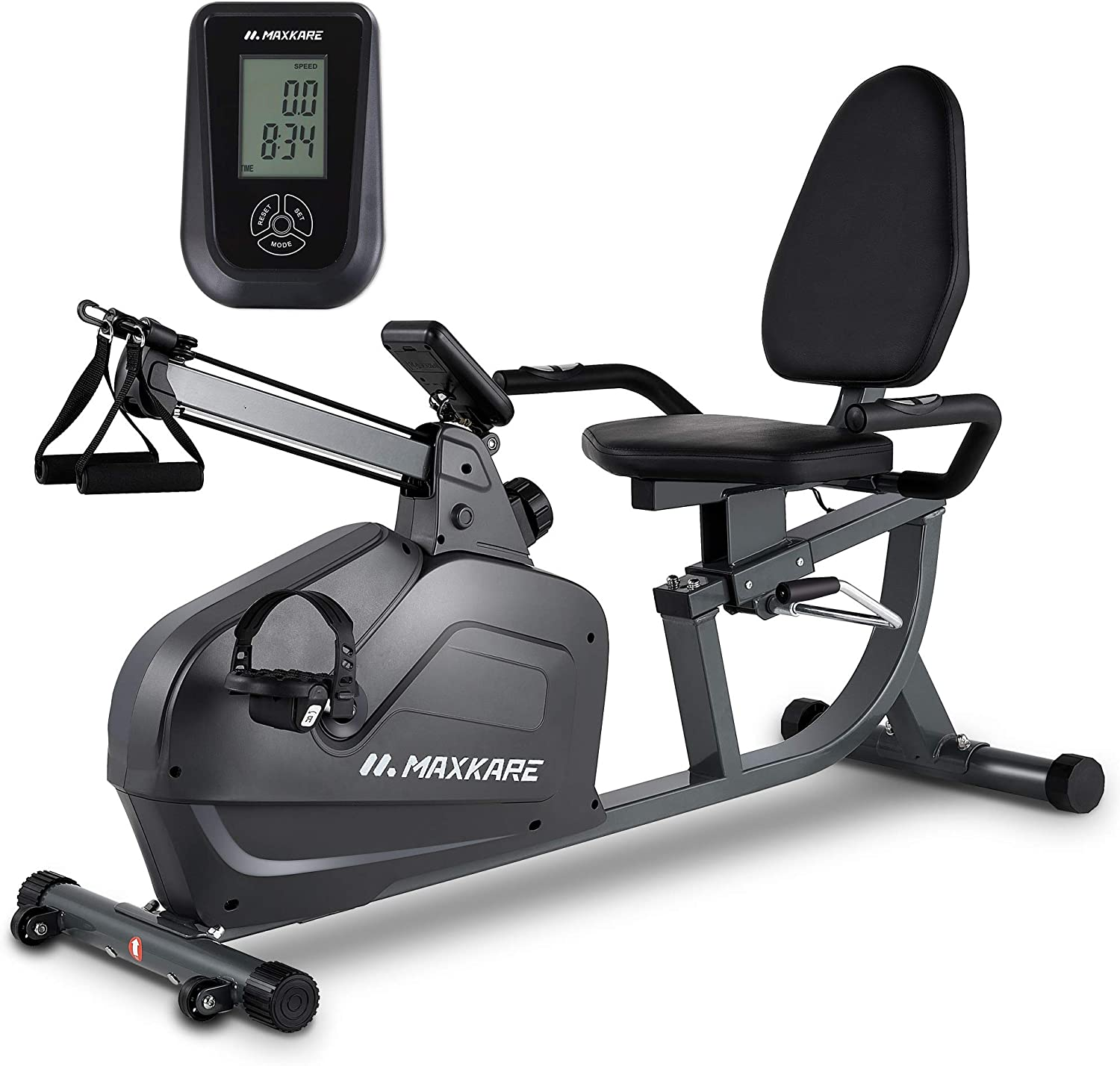 MARNUR Recumbent Exercise Bike Stationary Magnetic Home Exercise Bike with 8 Levels Adjustable Resistance with LCD Monitor /& Ipad Holder for Men and Women
