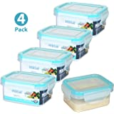 Persik Leak Proof Lunch Box Containers - Bento Meal Prep Containers 5 oz. (150 ml) Snack/Souce Food storage Container - Pack of 4