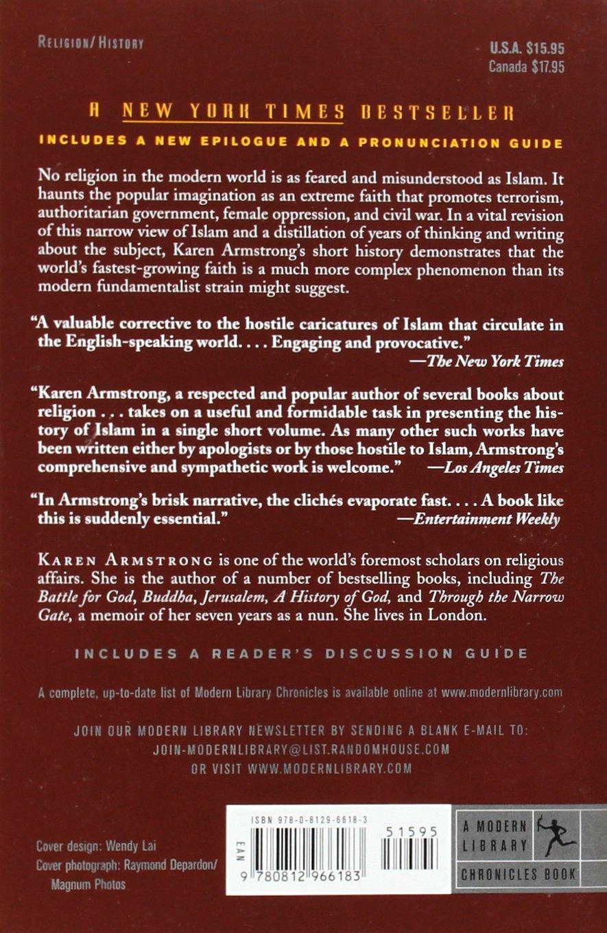Islam: A Short History (modern Library Chronicles): Karen Armstrong:  9780812966183: Amazon: Books