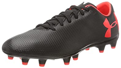 0210349a8 Under Armour Men s Force 3.0 FG Soccer Cleat Black Neon Coral Size 8 ...