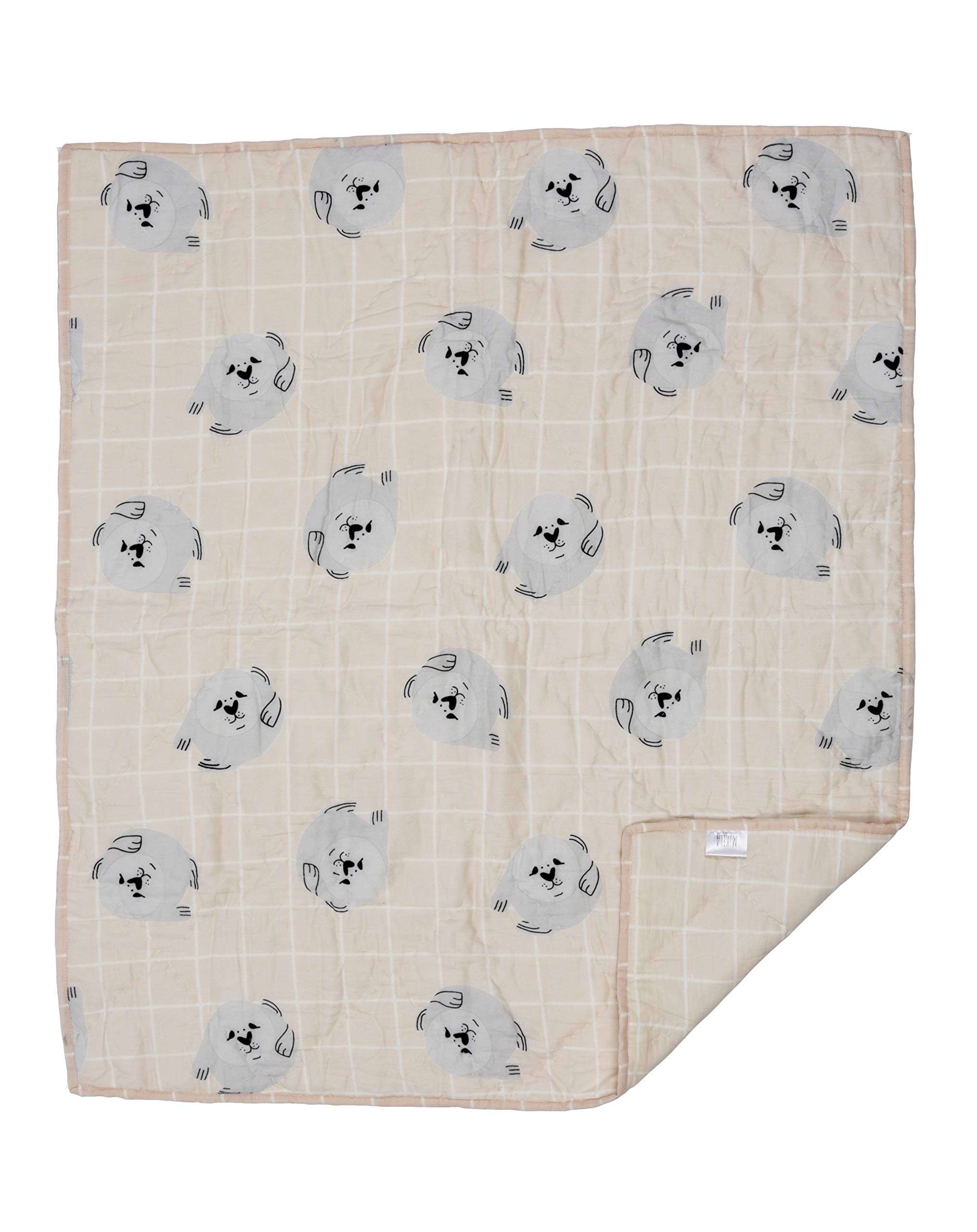 Mikela Fashion Baby Quilt, OneSize - 30''x35'' (Baby Seal) by Mikela