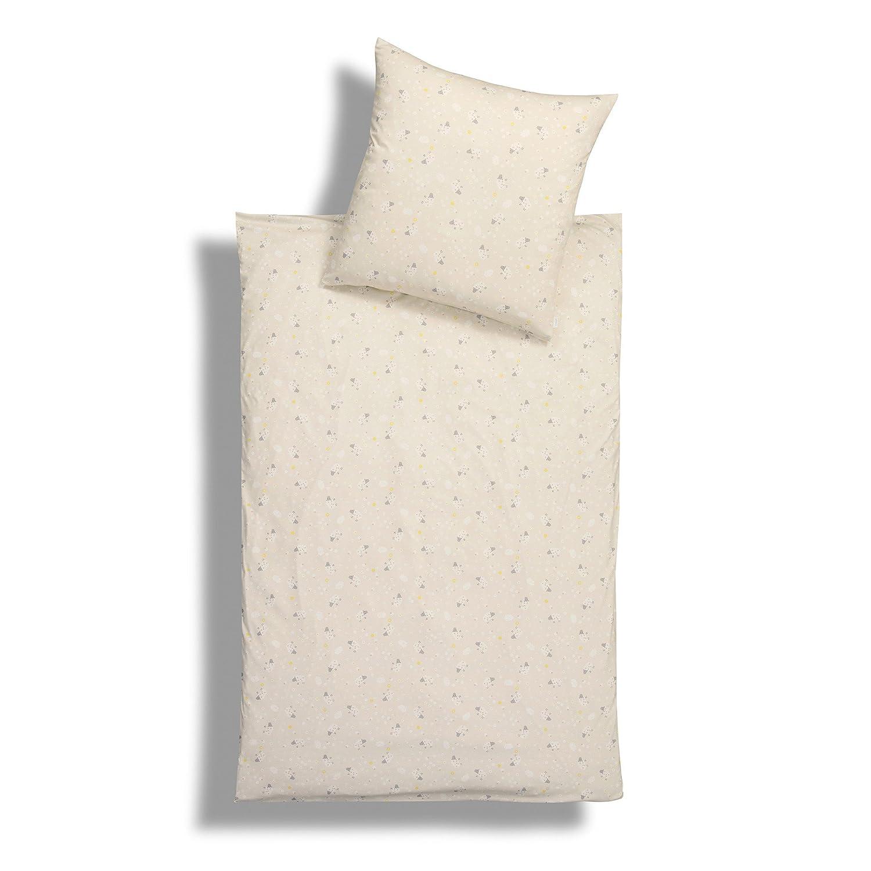 Estella Sheeps Interlock-Jersey Bettwäsche 135x200 + 1x 80x80 natur