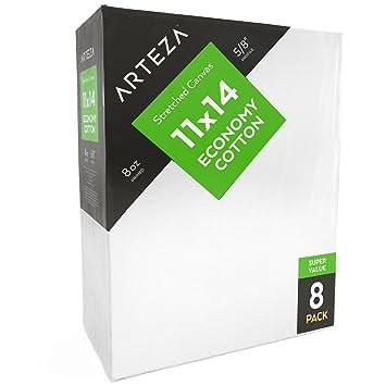 Arteza Lienzo Para Pintar Cuadros 28x35 5 Cm Pack De 8 100