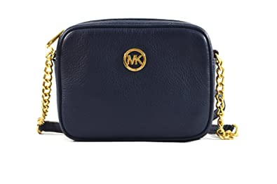 ca6b78310957 Michael Kors Fulton Small Cross-body Bag in Navy Blue Leather ...