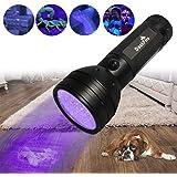 DaskFire 51 UV Torcia Torcia LED Torce standard per animali domestici Rilevatore di urina per cane Urina, macchie di animali domestici, cimice sul tappeto/Tappeti/Pavimento (3 batterie AA incluse)