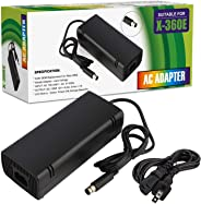Xbox 360 E Power Supply, Compatible with Xbox 360E Power Adapter, Power Supply Cord AC Adapter Replacement Charger for Xbox