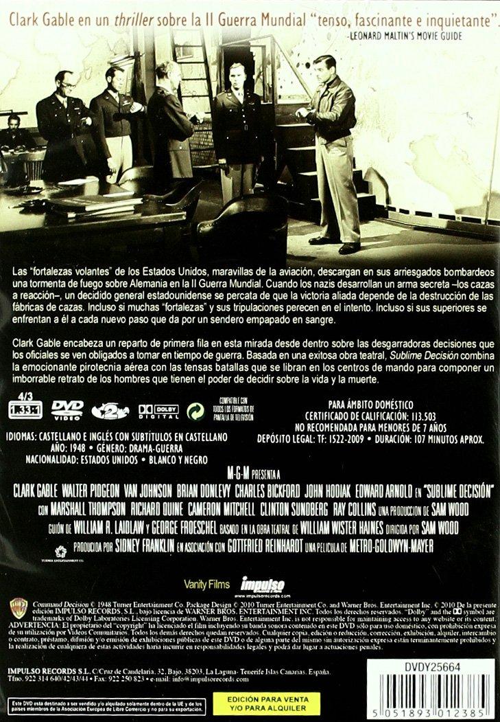 Amazon.com: Sublime Decision [1949] (Import Movie) (European ...