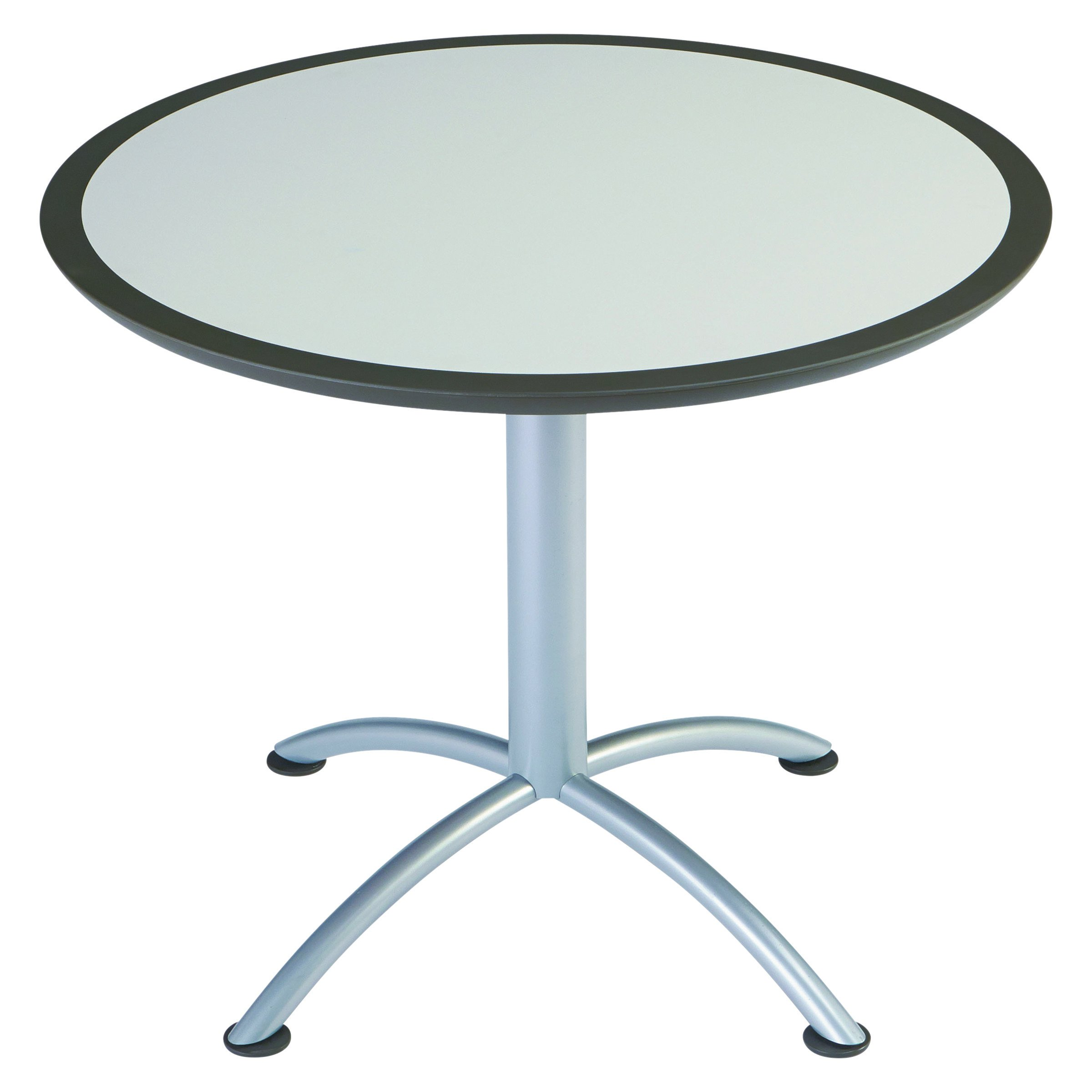 Iceberg 69815 iLand Meeting/Conferencing Table, Urethane Molded Edge, 36'' Round, 29'' Height, Gray, Silver Base