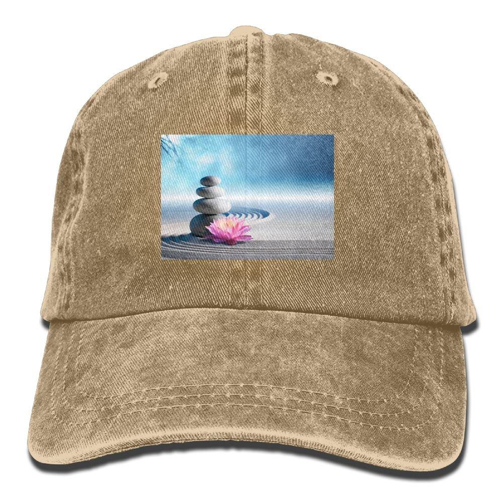 Trableade Spa ZEN Stone Pattern Unisex Sport Adjustable Structured Baseball Cowboy Hat